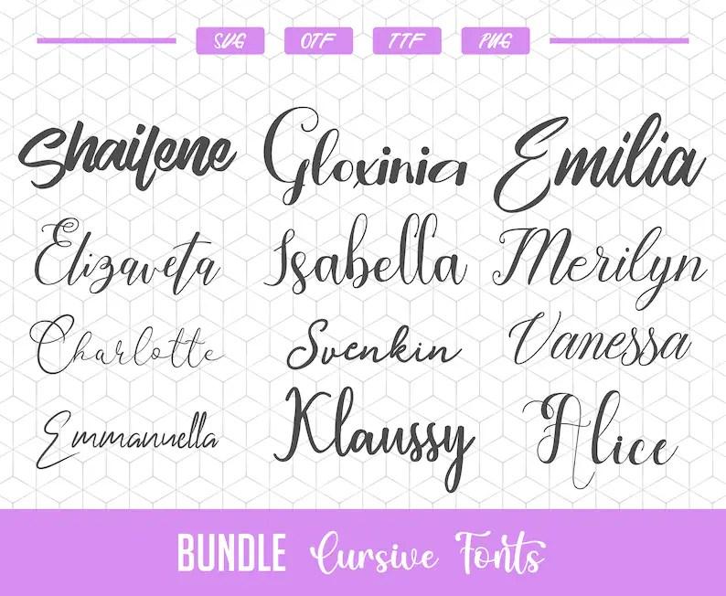 Download Cursive fonts for Cricut Fonts svg bundle Silhouette ...