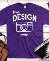 Purple Gildan Ultra Cotton Mock Up Blank Gildan Purple Shirt Etsy