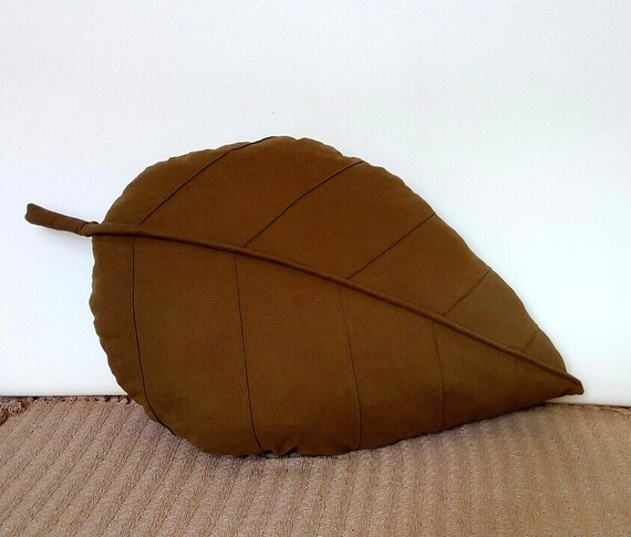 leaf shaped pillow lumbar pillow decorative floor pouf bean bag hassock chair footstool large pillowcase designer cushion sage green pillow