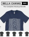 Bella Canvas 3001 Mockups The Complete Bundle Unisex Etsy