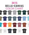 Bella Canvas 3415 Color Chart Mockup Bella Canvas Mockup Etsy