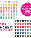 Bella Canvas 3001 Color Chart Mockup Bella Canvas Mockup Etsy