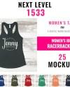 Next Level 1533 Mockup Bundle Shirt Mockup Tank Top Mockup Etsy