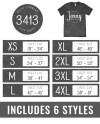 Bella Canvas 3413 Size Chart Bella Canvas Mockup Tshirt Size Etsy