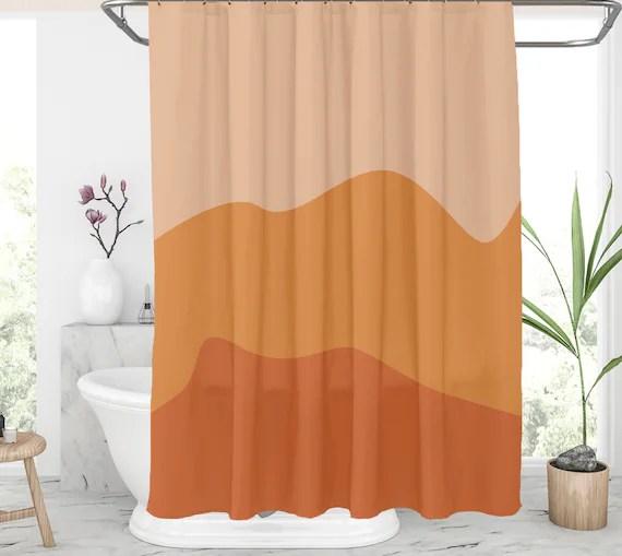 burnt orange shower curtain 72x72 abstract shower curtains burnt orange and yellow bath curtain set with hooks burnt orange home decor 154