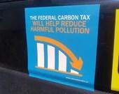 Carbon Tax Sticker x5 (Vinyl, Die Cut)