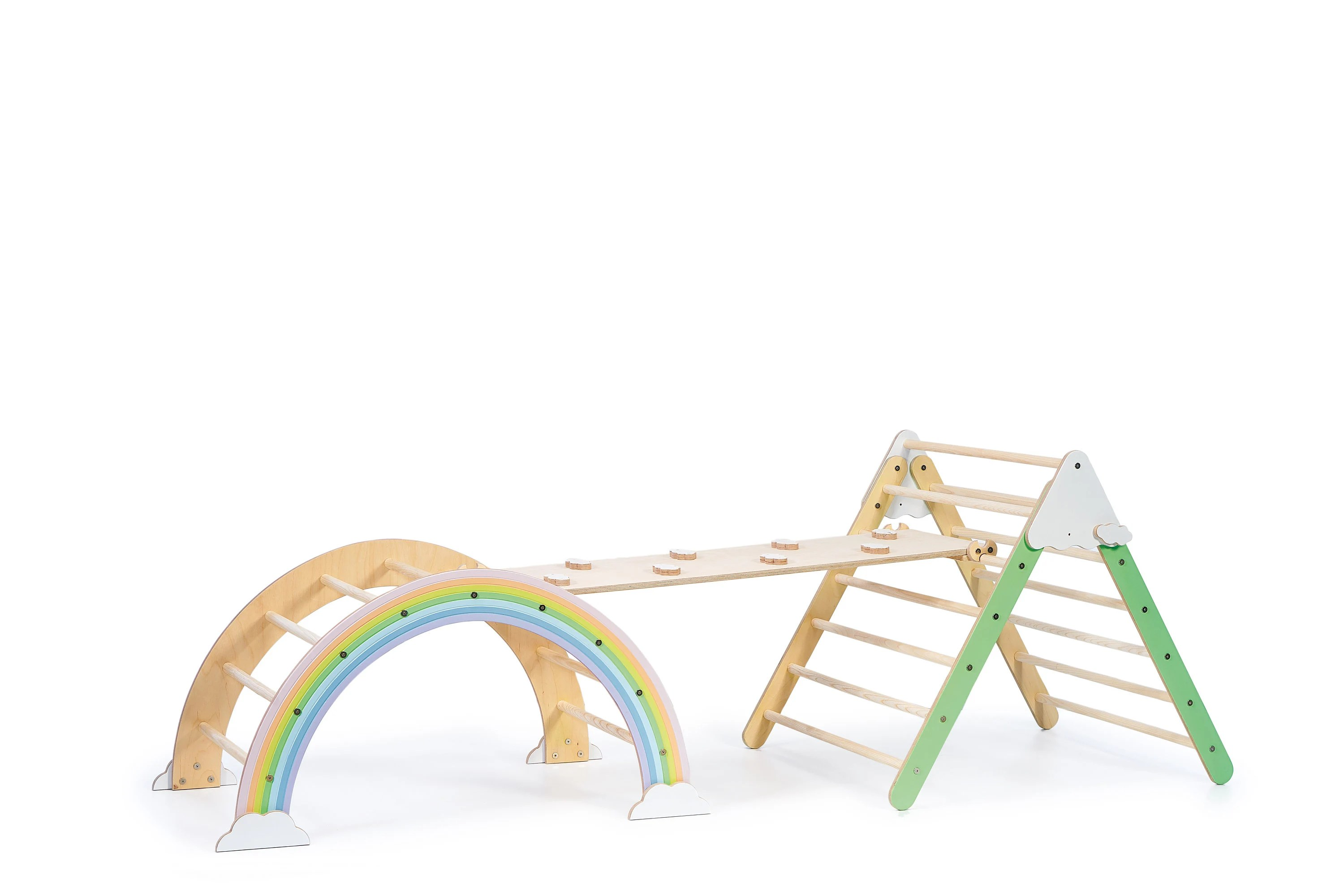 Foldable Pikler Triangle Climbing Arch with Ramp Climbing image 8