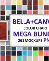 Png Bellacanvas Color Chart All Colors For All Items 261 Etsy