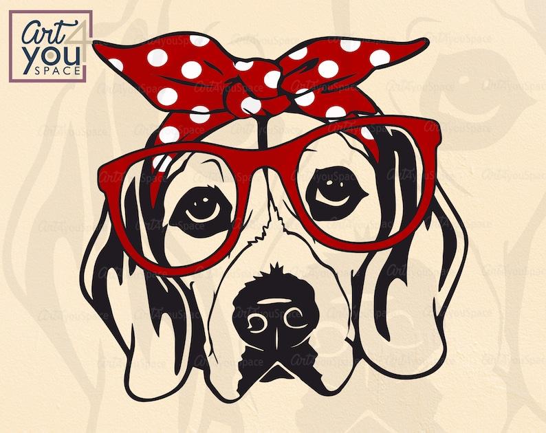 Download Beagle svg Dog svg files for cricut Download clipart Face ...