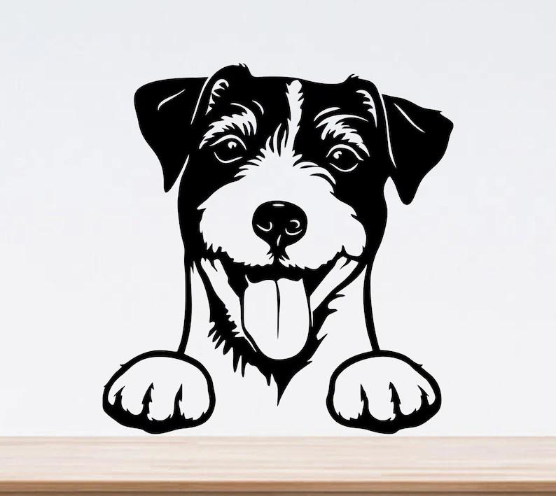 Download Jack russell terrier svg peeking dog svg cricut dog dxf | Etsy