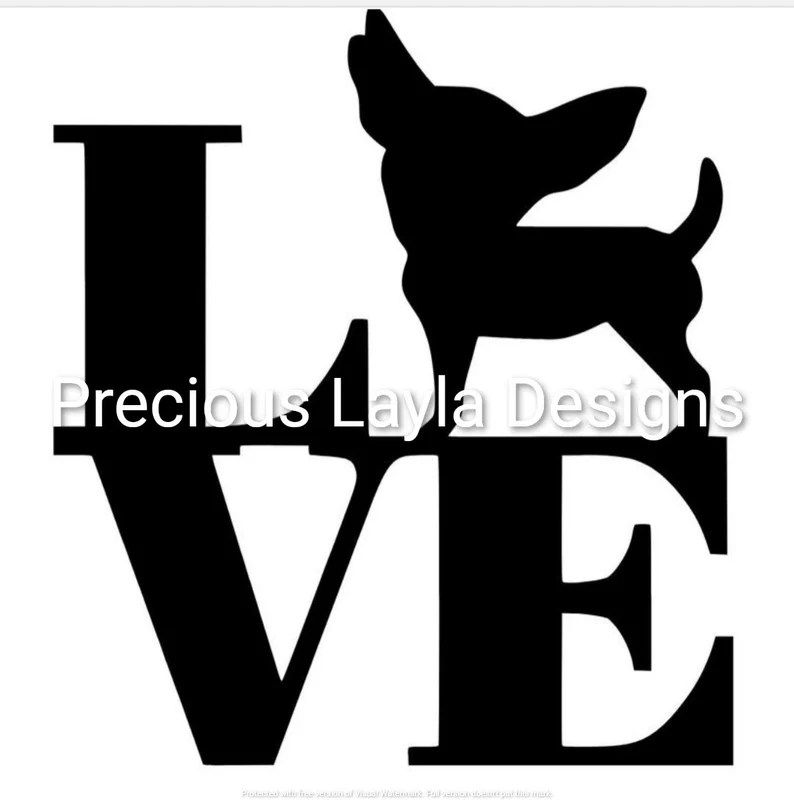 Download Chihuahua love INSTANT DOWNLOAD svg jpg dxf and png for | Etsy