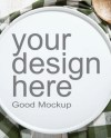Mockup White Plate Or Tray Top View Workspace Mockup Styled Etsy