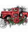 Vintage Christmas Red Truck Png Jpg Pdf Instant Download Etsy