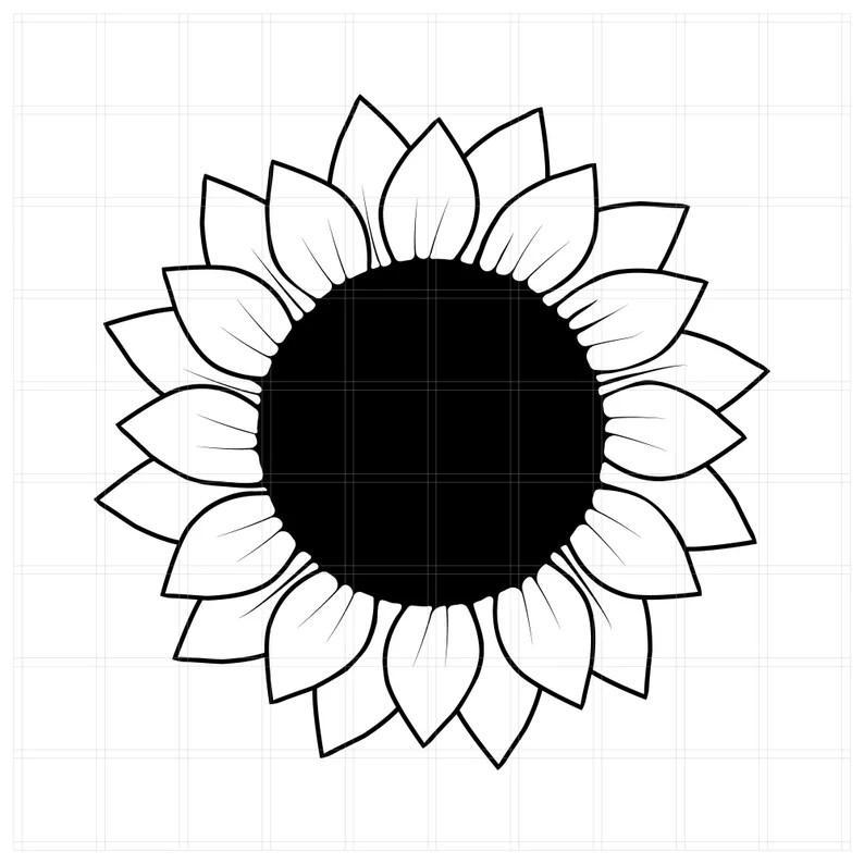 Download 2 Sunflower SVG cut files Silhouette Cut File Cricut SVG ...