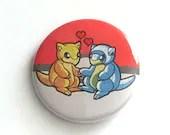 Sandshrew Love Pin Button / Pokemon / Alolan and Kantonian forms