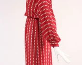 Heart Patterned Dress from 1970s