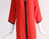 Vintage Yves Saint Laurent Red Dress