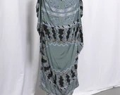 Vintage 1970s Zandra Rhodes Smocked Silk Printed Dress, Authentic Zandra Rhodes Cold Shoulder Dress