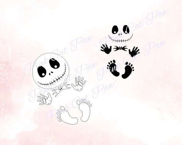 I have an idea i want to do but can't find a good one of her face. Jack Baby Svg Maternity Svg Baby Svg Nightmare Before Etsy