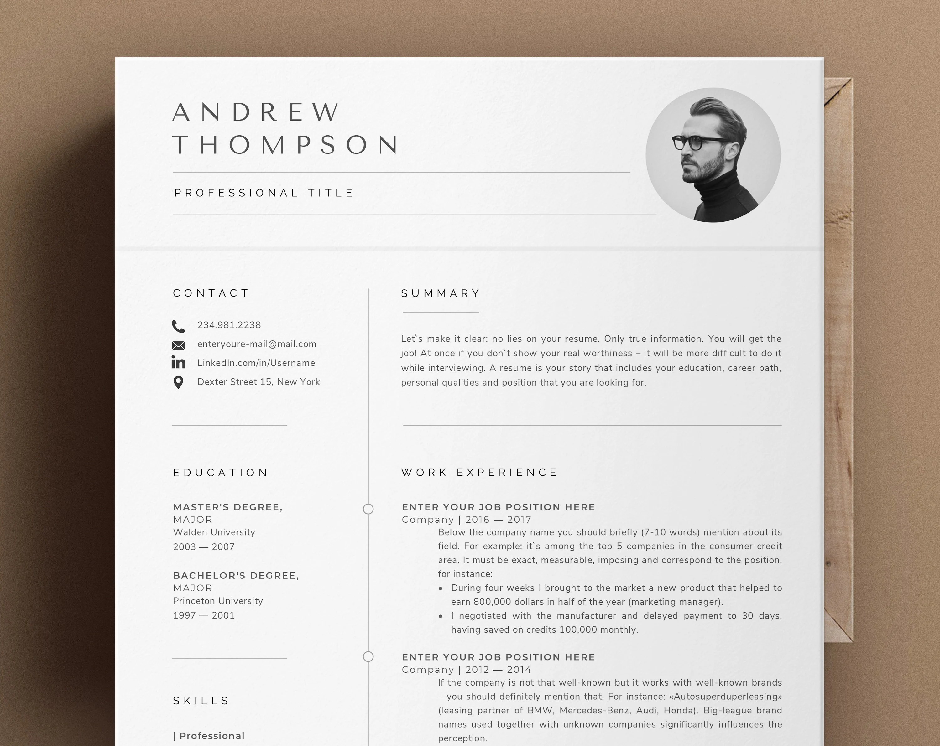 Create something extraordinary for yourself with the best resume website templates. Minimalist Resume Template Word Professional Resume Cv Etsy