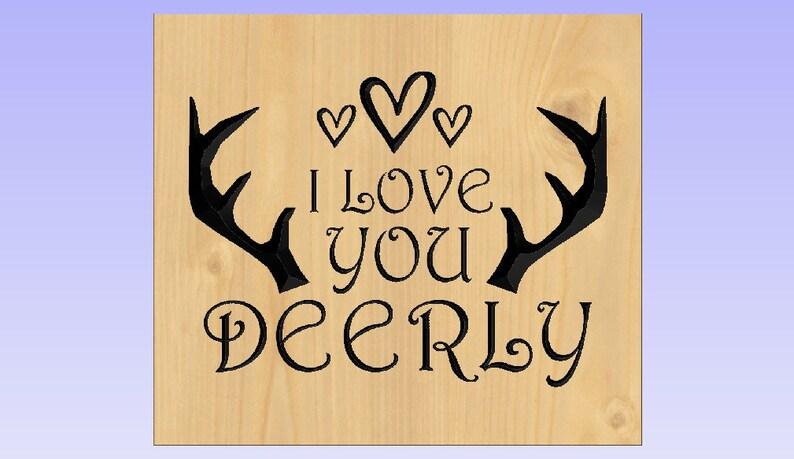 Download Crv dxf svg files/ I love you deerly/ Vcarve / Digital | Etsy