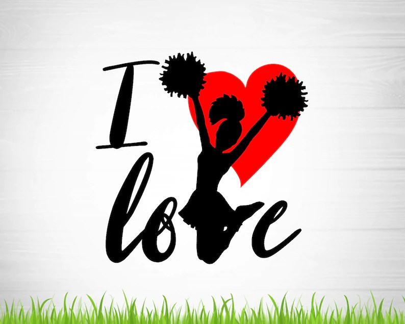 Download Love cheer svg file sport cricut file football Cutting | Etsy