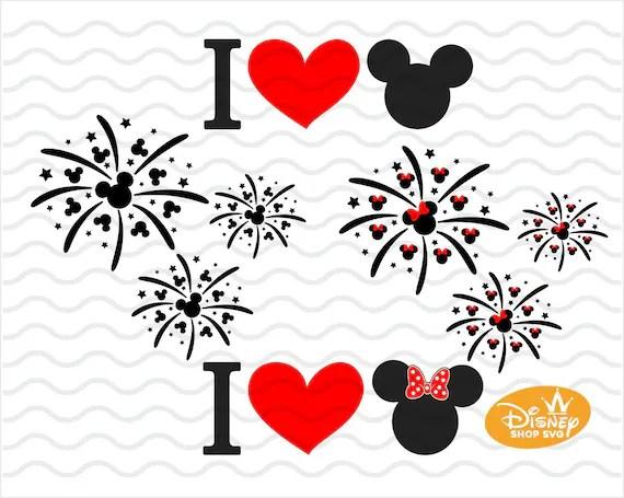 Download Disney fireworks SVG / Mickey Mouse Love Head Fireworks ...