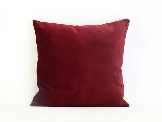 red velvet pillow cover dark red velvet cushion cover burgundy velvet pillow red velvet throw pillow wine red pillow case luxury pillow