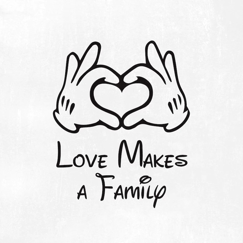 Download Love Makes a Family svg Disney hands svg Mickey hands ...