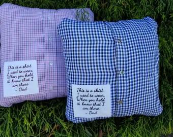 shirt pillow etsy