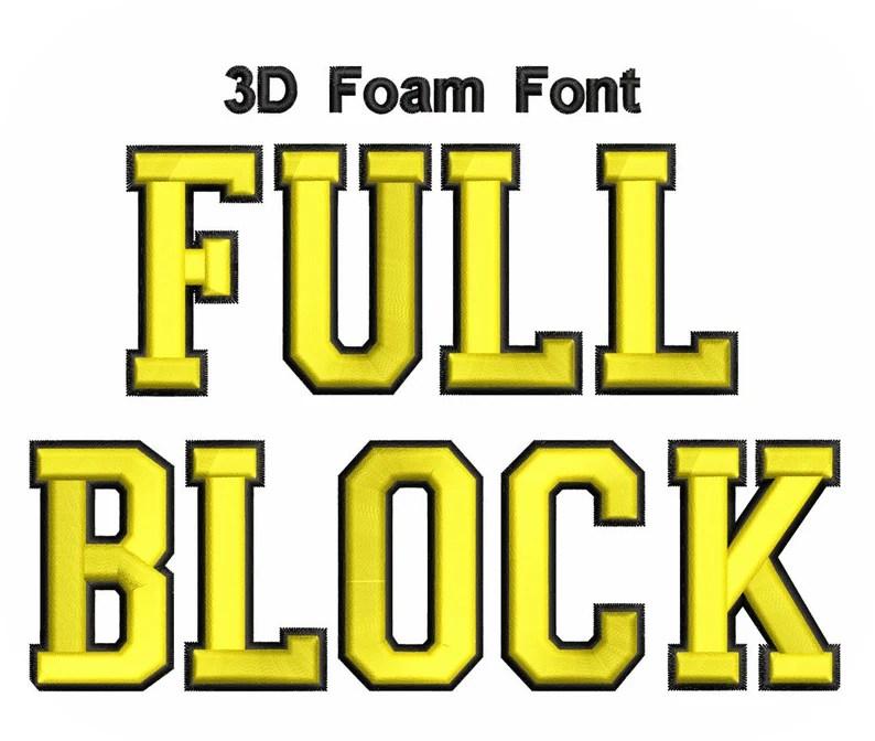 Download 3D Foam Font Full Block 2 Color Value Pack   Etsy