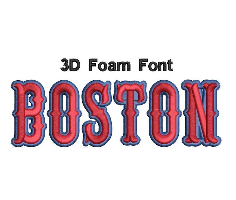 Download 3D Foam Font Boston Value Pack   Etsy