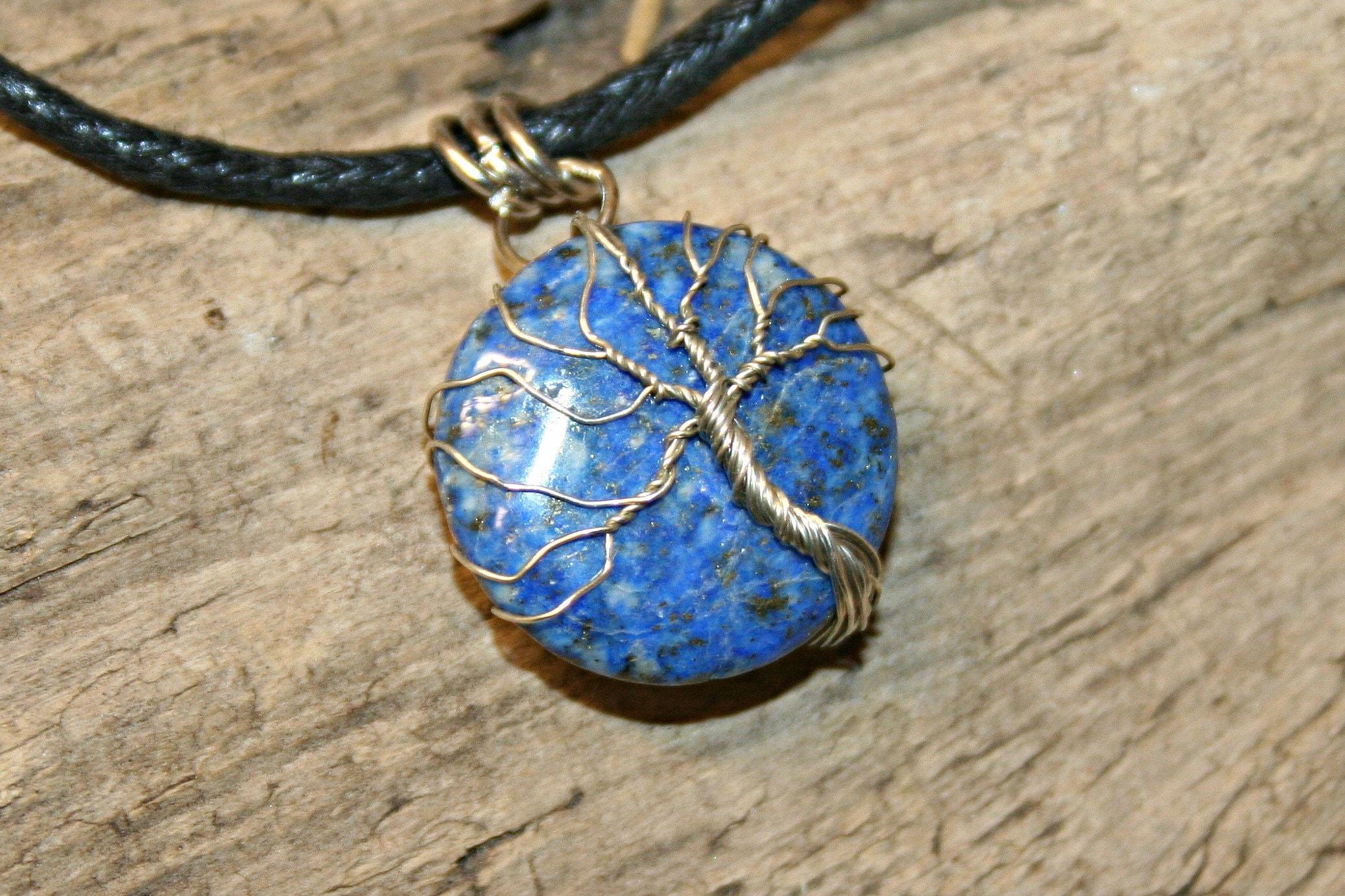 pendant tree of life on lapis lazuli 23 image 6