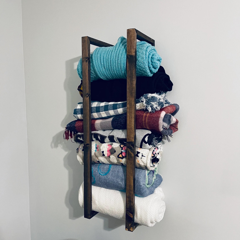 blanket rack towel rack wall mount etsy