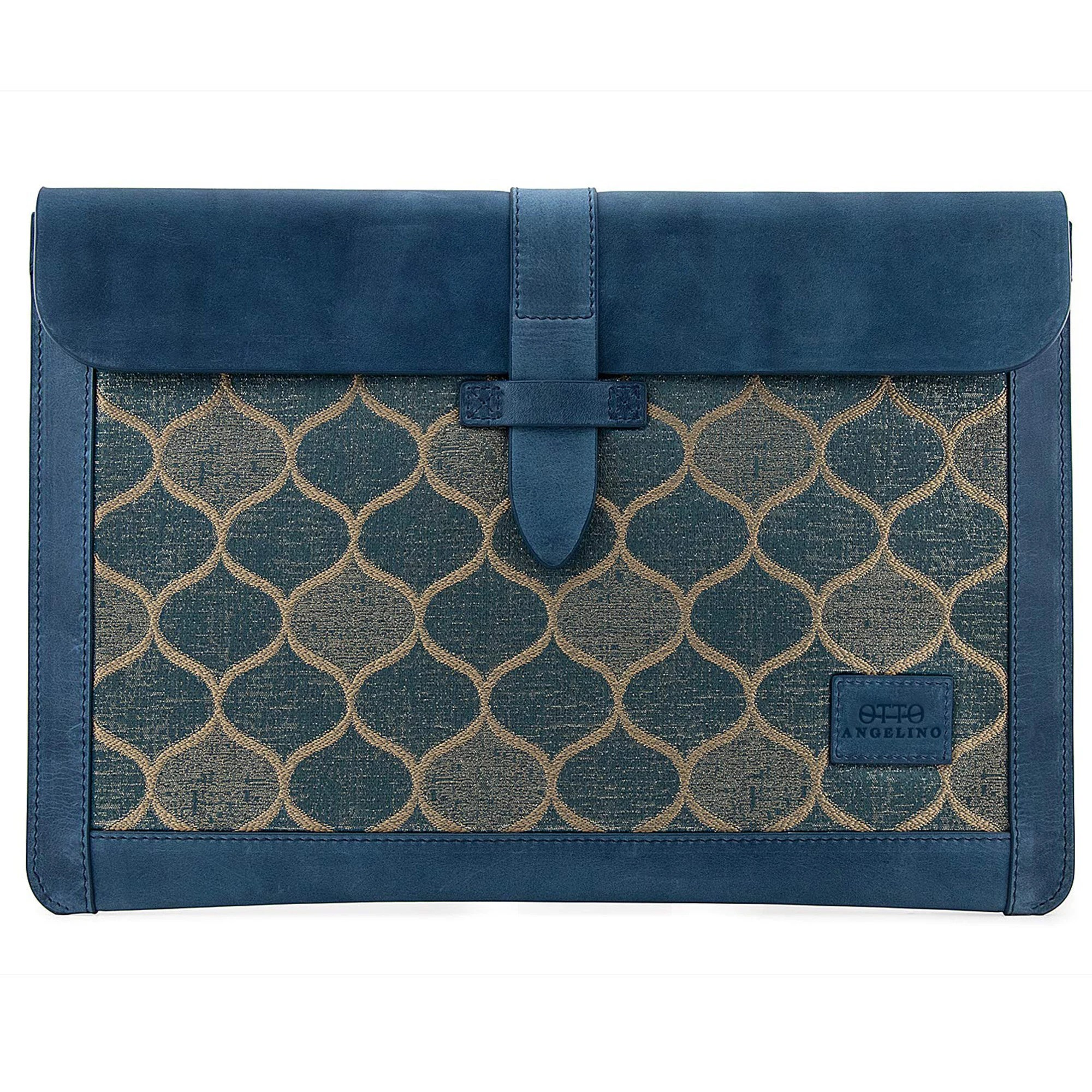 Personalized Leather Sleeve Bag for MacBook Pro and Air  Dark Blue