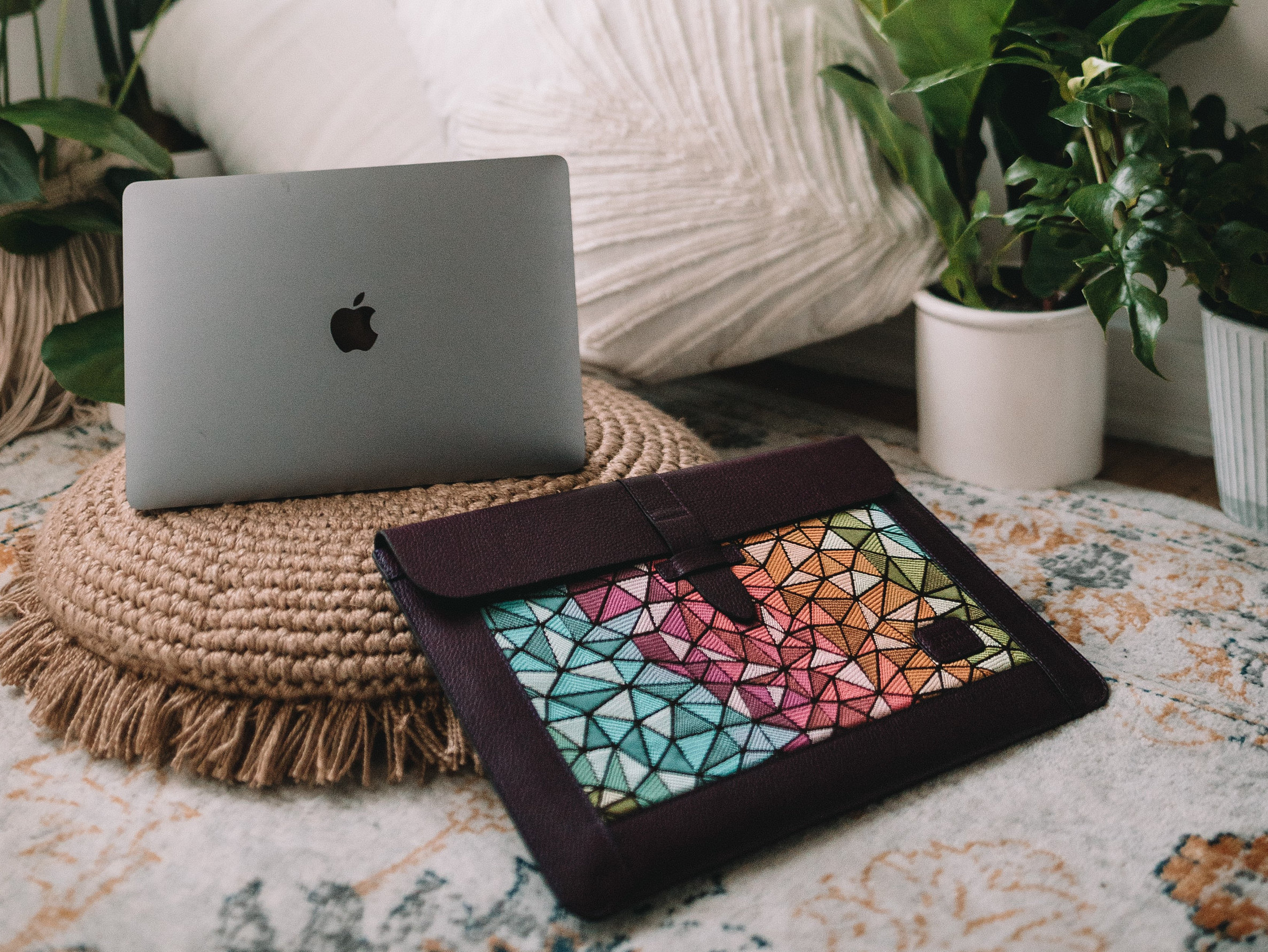 Personalized Leather Sleeve Bag for MacBook Pro and Air  image 2