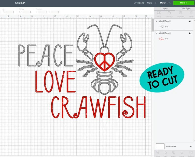 Download Crawfish svg Peace Love Crawfish svg Crawfish Boil svg   Etsy