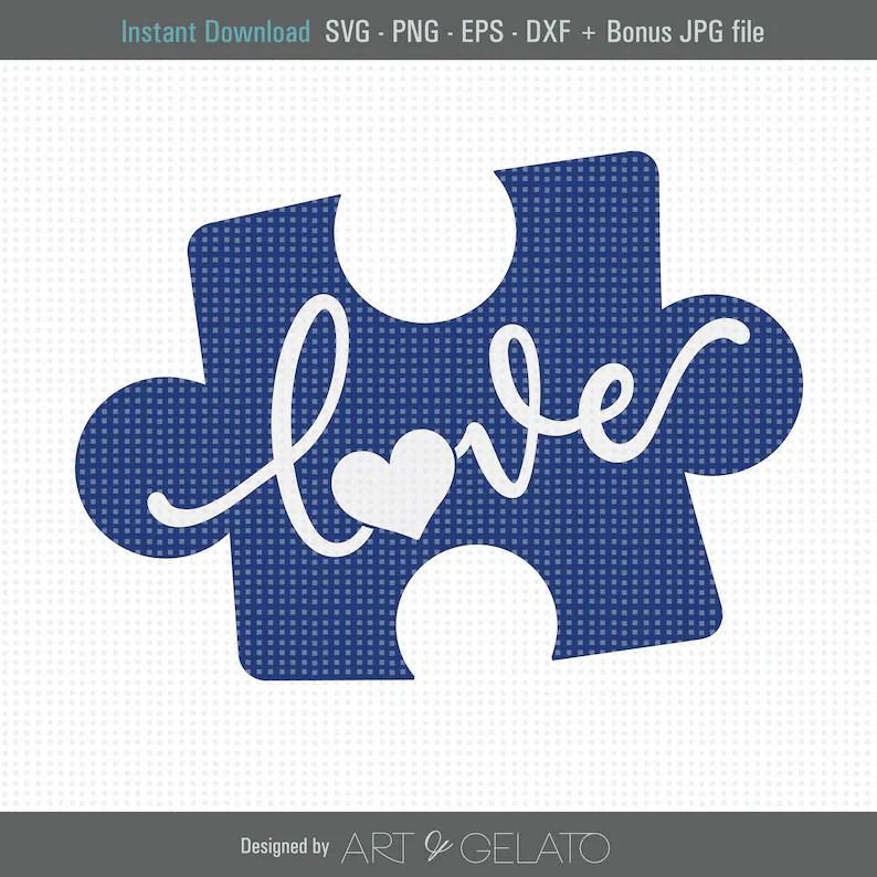 Download Autism Love Piece SVG Autism Awareness SVG Puzzle Piece ...