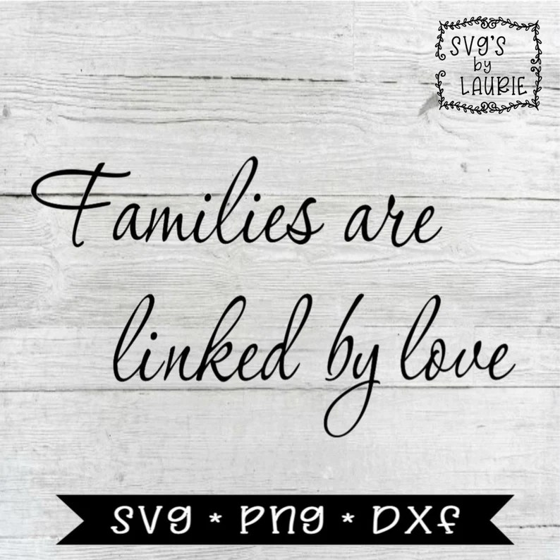 Download Family SVG Families are linked by love SVG Adoption SVG   Etsy