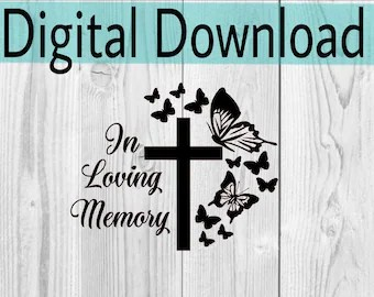 Download In loving memory butterfly svg files memorial quotes grief ...