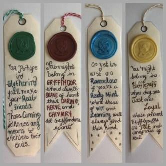 Harry Potter House Bookmarks Slytherin Hufflepuff Gryffindor image 0