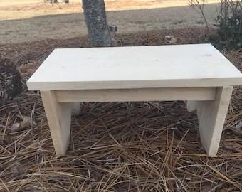 wooden footstool etsy