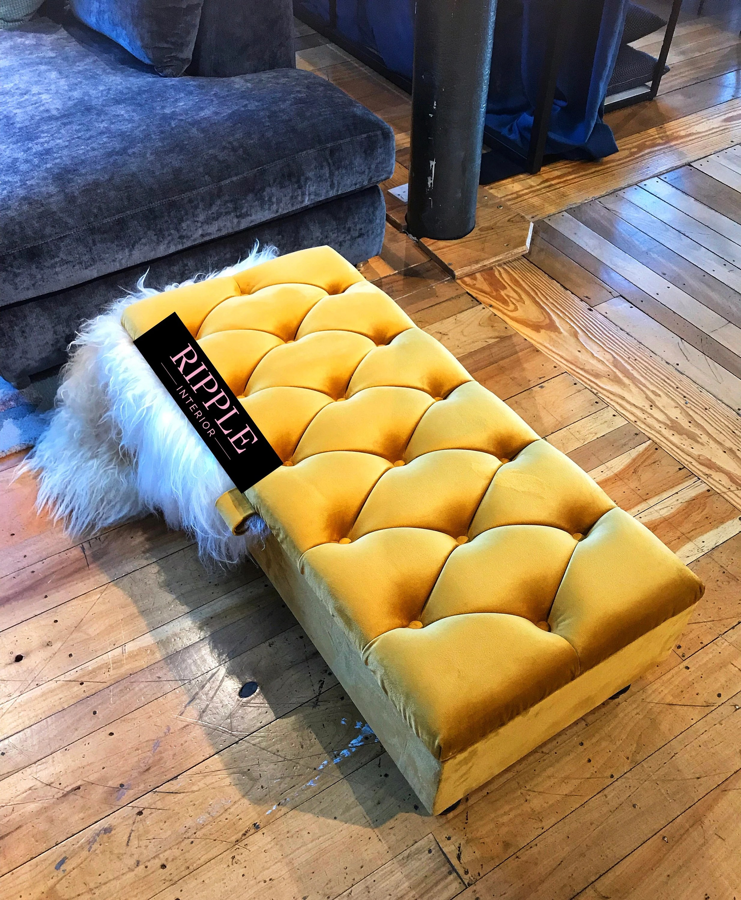 living room footstool ottoman storage upholstered in velvet fabric various colours available 100 handmade in the u k