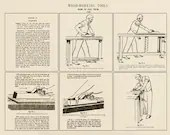 Woodworking Tools - How to Use Them; Hand Planes (Poster)