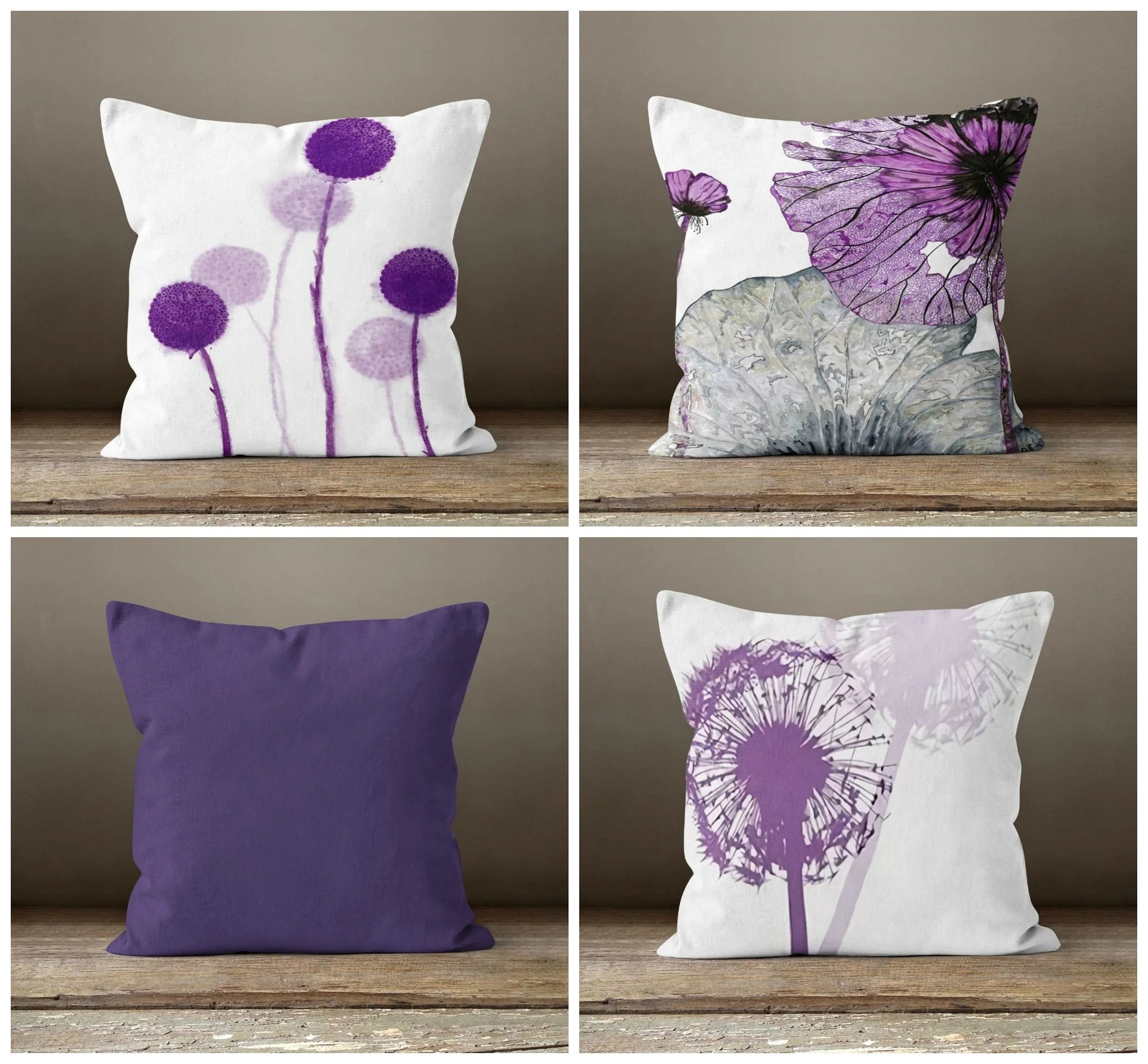 purple pillow cover etsy