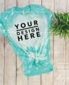 Bleach Mint Bella Canvas 3001 Mockup Flat Lay Unisex T Shirt Etsy
