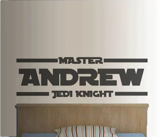 Star Wars Personalised Wall Vinyl Stickers