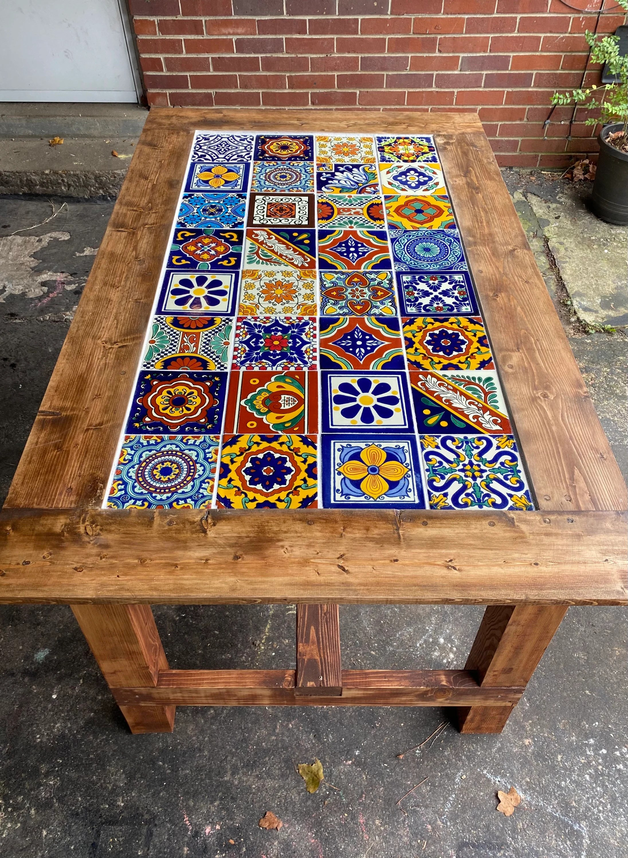 mexican mosaic table etsy