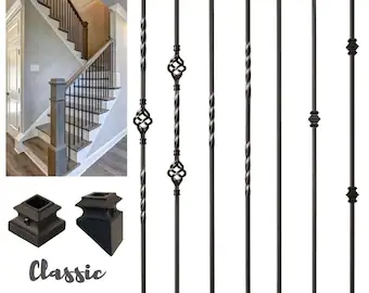 Wrought Iron Railing Etsy | Wrought Iron Balustrades And Handrails | Metal | Wrought Ironwork | Design | Mild Steel | Cast Iron