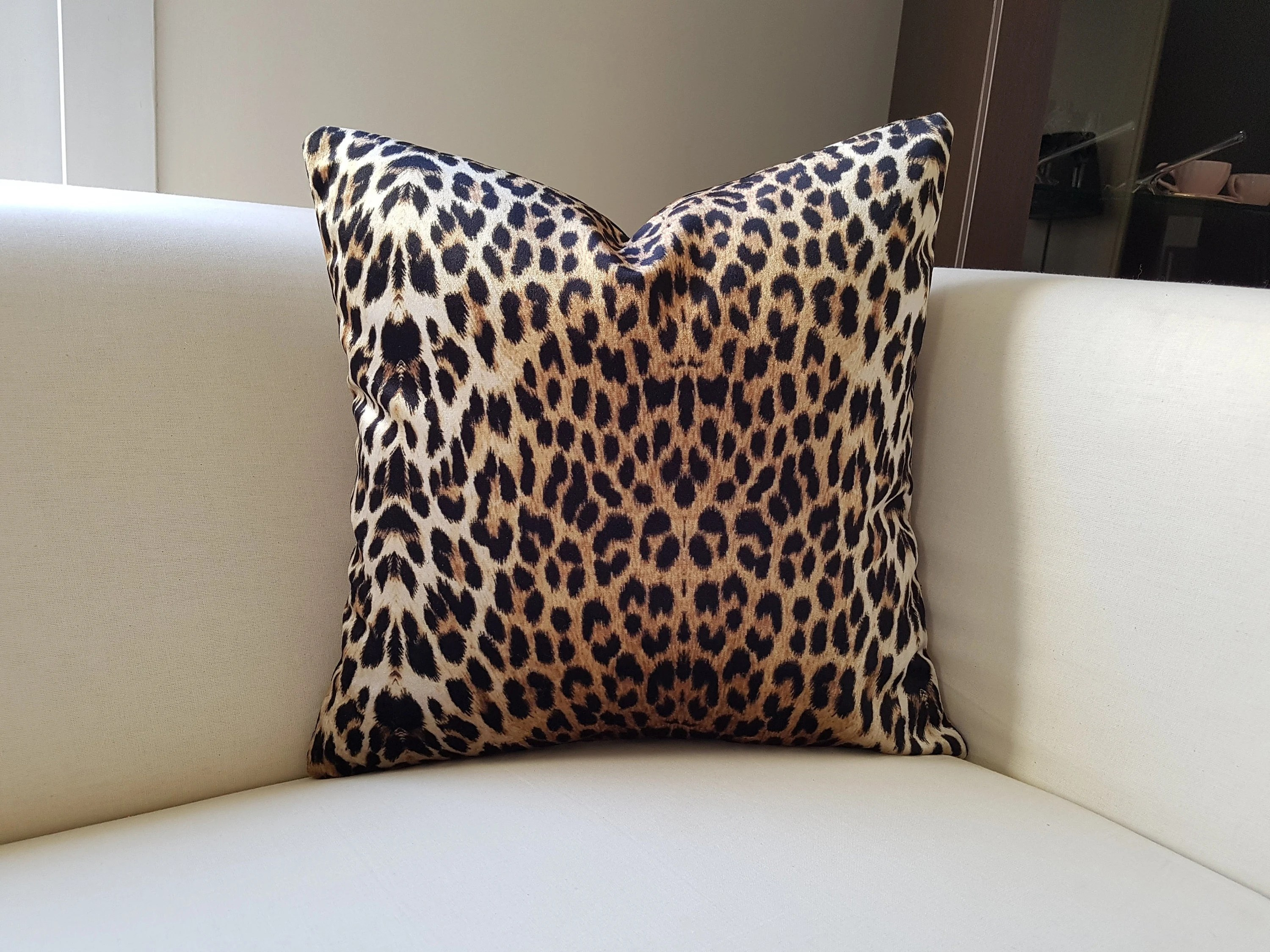 leopard pillow cover etsy